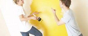 Các sự cố thường gặp khi sơn tường