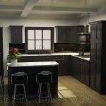 Tủ bếp gỗ tự nhiên cho nhà bếp hiện đại sang trọng