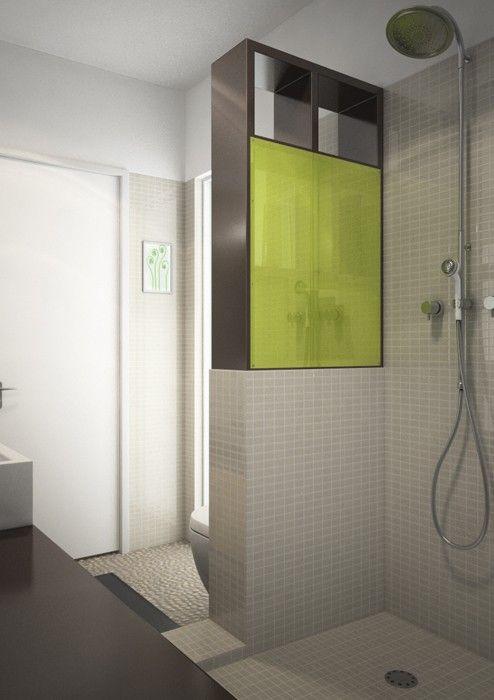 bố trí phòng tắm sang trọng, thoáng rộng chỉ với 4 m2