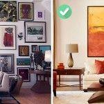 chữa lỗi tranh treo tường khi bố trí nội thất