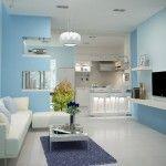 lựa chọn sơn phòng khách theo diện tích nhà