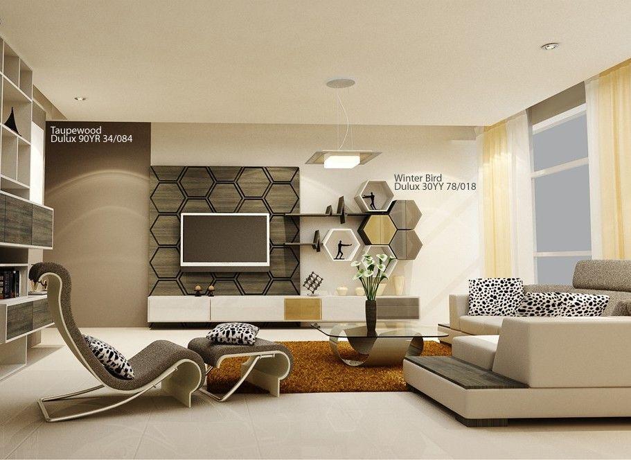 sơn màu phòng khách theo đồ nội thất
