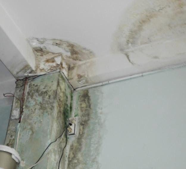 nhà xuống cấp cần phải sửa chữa cải tạo.