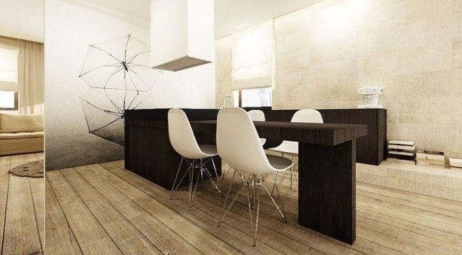 sử dụng nội thất tối giản cho nhà thiếu sáng