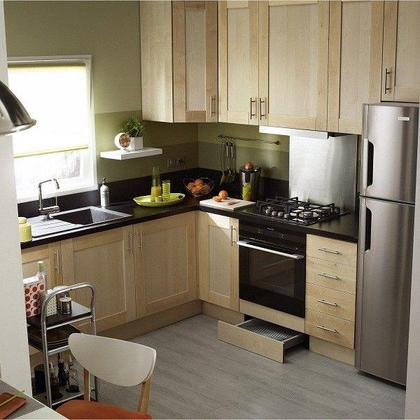 mẫu tủ đẹp tiện dụng và thông minh cho nhà bếp nhỏ.
