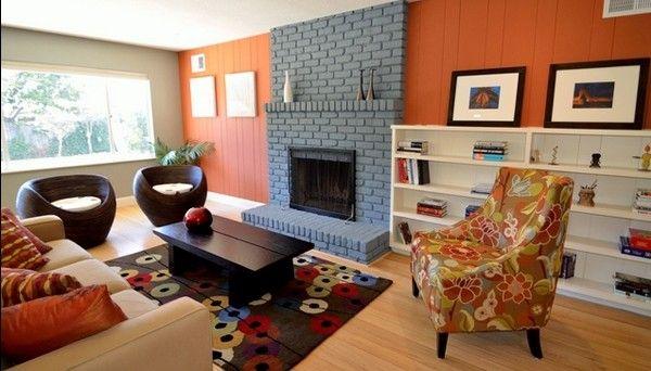 tránh sơn nhà với nhiều màu tương phản