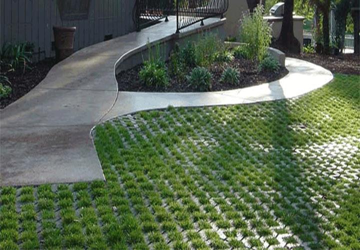gạch trồng cỏ lát sân vườn, vỉa hè đẹp