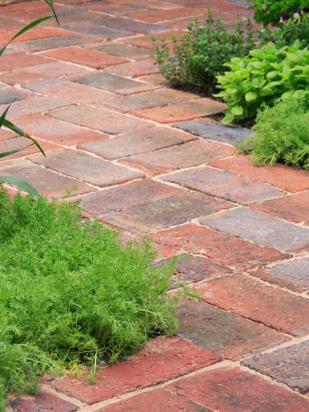 gạch nung truyền thống lát sân vườn, vỉa hè