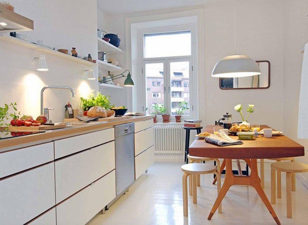 dùng ghế thấp cho nhà bếp nhỏ