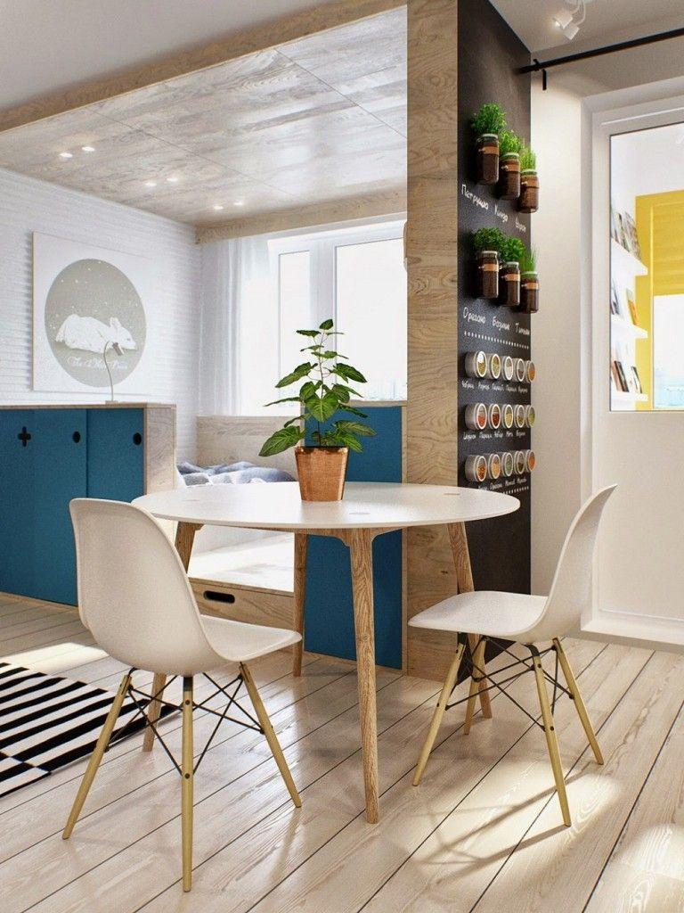 sử dụng bàn tròn tăng không gian cho nhà bếp nhỏ