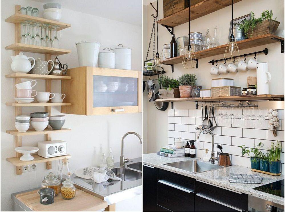 xếp tầng nội thất tăng không gian cho bếp nhỏ