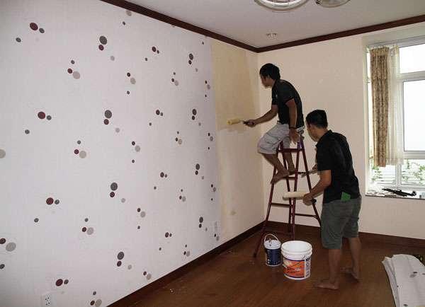 Kết quả hình ảnh cho tường quét vôi có dán giấy dán tường được không