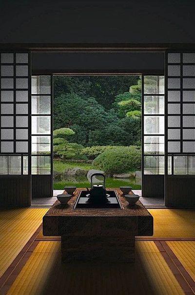 thiết kế nội thất tone trầm tinh tế theo phong cách nhật.